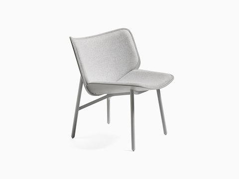 Light gray Dapper Lounge Chair, viewed from the front at an angle.