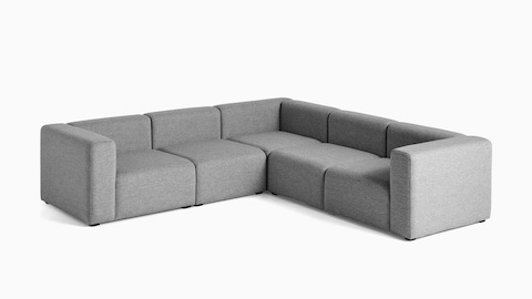 Large, 5-piece Mags Sectional Sofa with classic corner combination, viewed from the front.