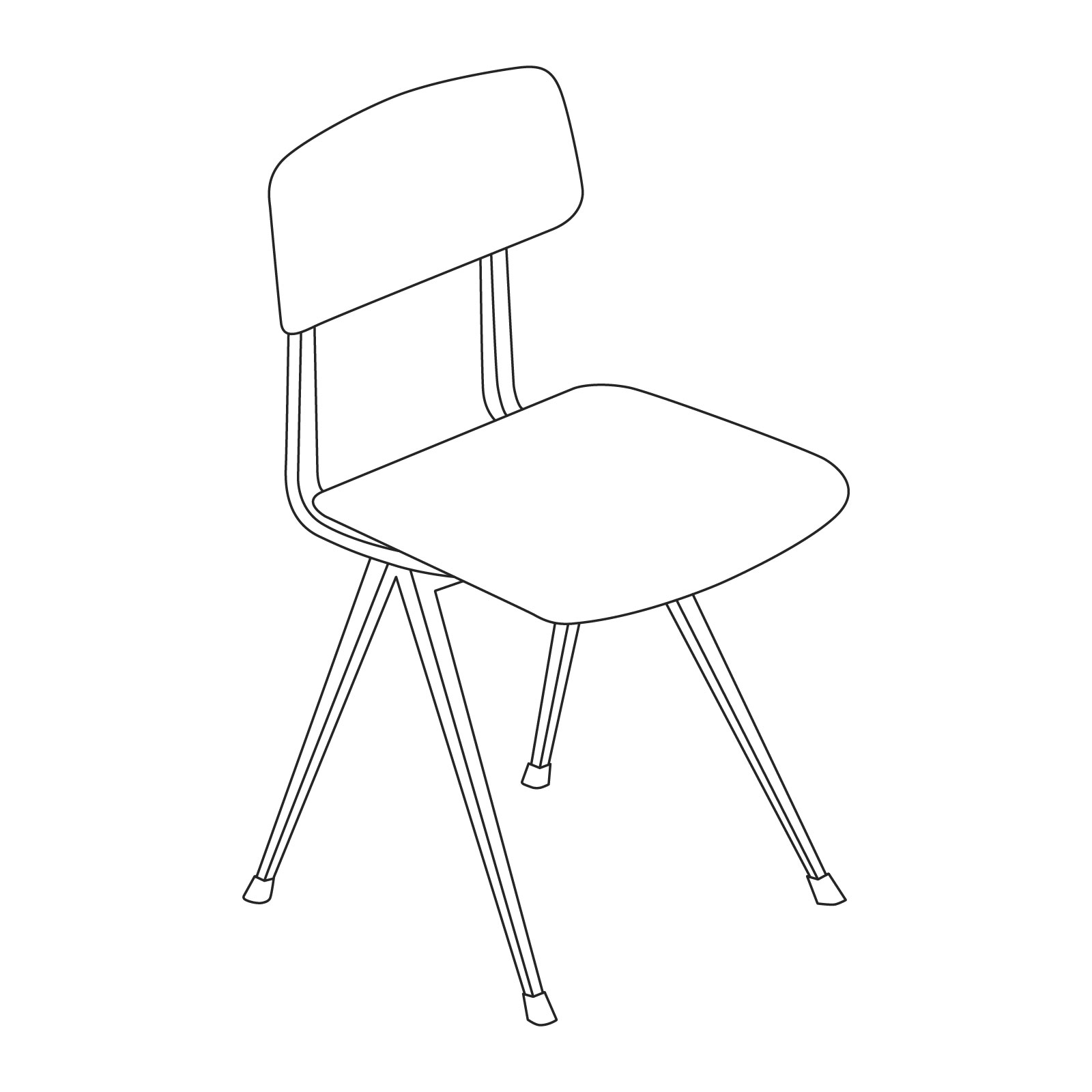 A line drawing of Result Chair.