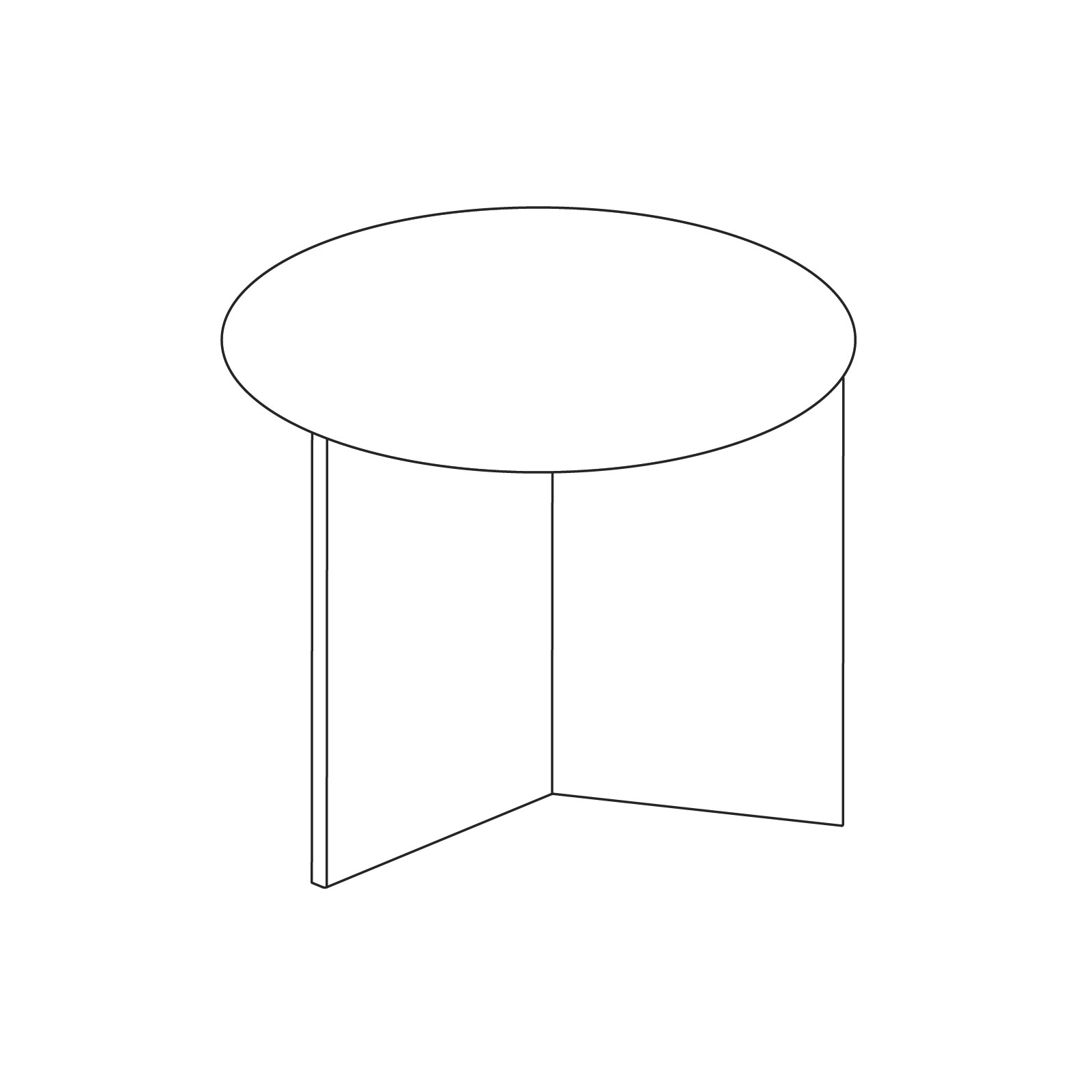 A line drawing of Slit Table–Round.
