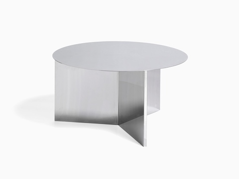 Round Slit Table in mirror, viewed at an angle.