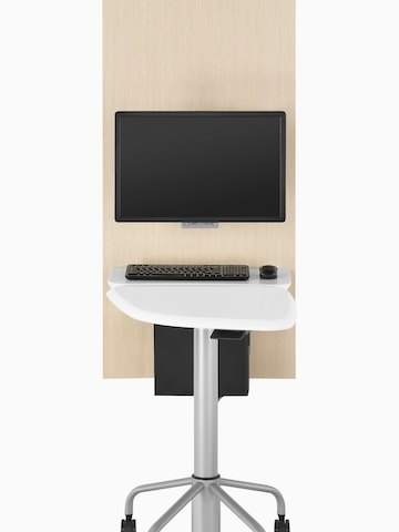 A table and wall unit that support patient interaction and technology. Select to go to the Intent Solution product page.