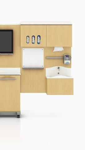 The Compass modular healthcare system in a clinical space. Select to go to the Herman Miller clinical landing page.