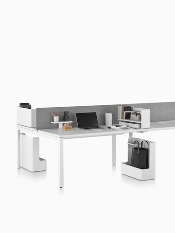 A Layout Studio work surface with a grey privacy screen.