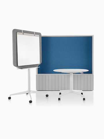 A mobile table, mobile easel, and horizontal workbase from Locale.