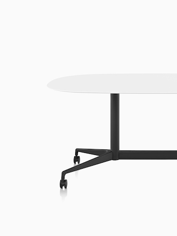 A white oval Locale conference table. Select to go to the Locale product page.