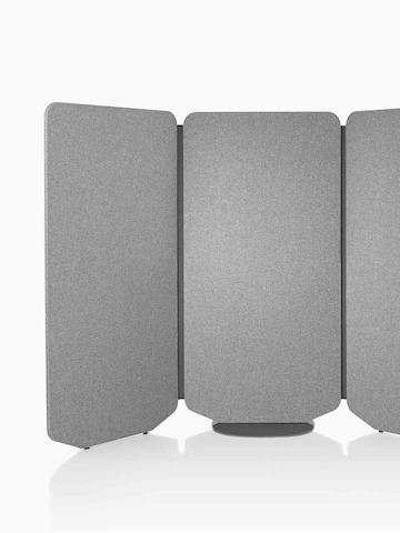 A gray, three-panel freestanding screen. Select to go to the Locale product page.