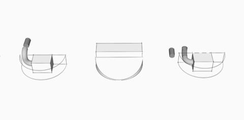 Artistic sketches of Logic Reach components floating against a gray background.