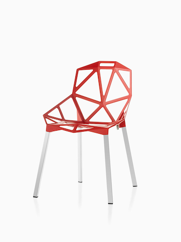 Red Magis Chair_One. Select to go to the Magis Chair_One product page.