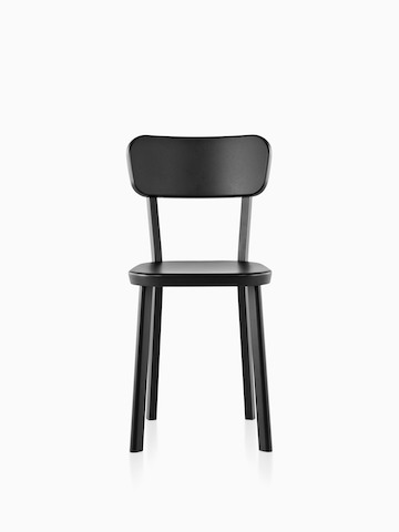 Black Magis Déjà-vu side chair, viewed from the front.