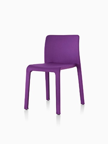 Purple Magis Dressed First side chair, viewed from a 45-degree angle.