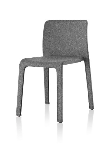 Gray Magis Dressed First side chair, viewed from a 45-degree angle.