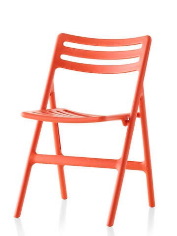 Red Magis Folding Air-Chair, viewed from a 45-degree angle.
