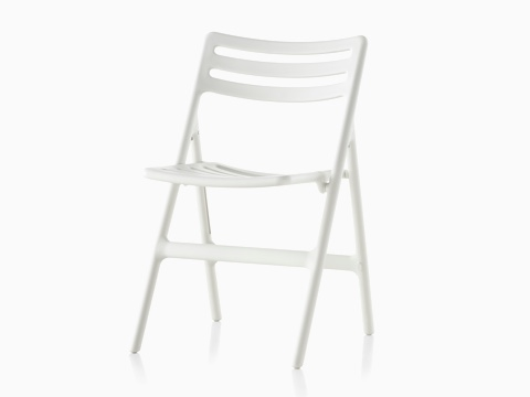 White Magis Folding Air-Chair, viewed from a 45-degree angle.