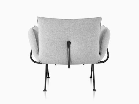 Magis Officina Armchair in Divina Melange, viewed from the back.