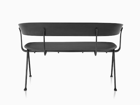 Magis Officina Bench in divina MD black, viewed from the back.