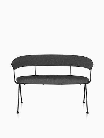 Magis Officina Bench en divina MD negro.