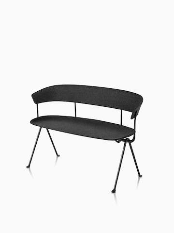 Magis Officina Bench in divina MD black.  Select to go to the Magis Officina Bench product page.