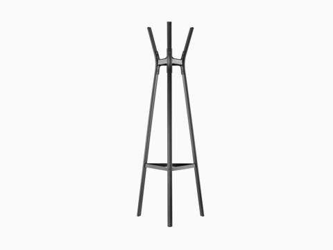 A black Magis Steelwood Coat Stand.