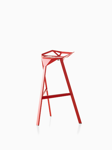 Red Magis Stool_One. Select to go to the Magis Stool_One product page.