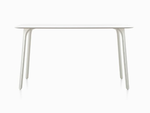 A white Magis Table First table with a rectangular top.