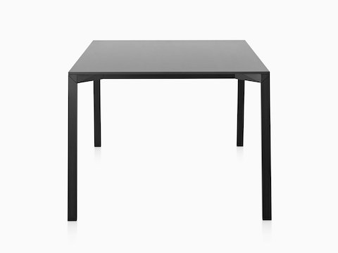 A black Magis Table_One Outdoor table with a square top.