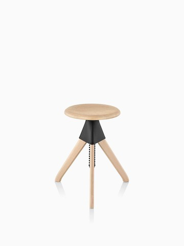 Magis Tom and Jerry Stool with a light wood finish.