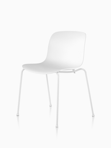 A Magis Troy Plastic Chair with a plastic seat and back and metal frame.