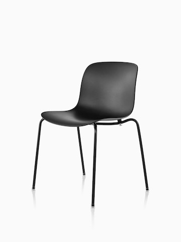 A Magis Troy Plastic Chair with a plastic seat and back and metal frame. Select to go to the Magis Troy Plastic Chair product page.