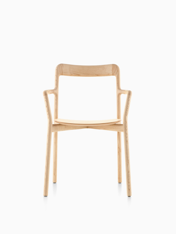 A wood Mattiazzi Branca Chair.