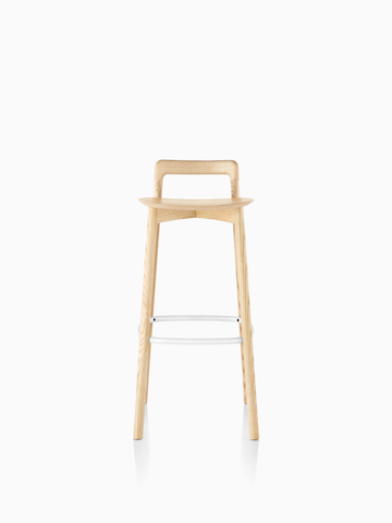 Mattiazzi Branca Stool in a light wood finish.