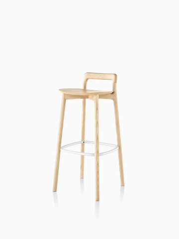 Mattiazzi Branca Stool in a light wood finish. Select to go to the Mattiazzi Branca Stool product page.