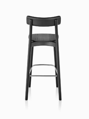 Black Mattiazzi Chiaro Stool, viewed from the rear.