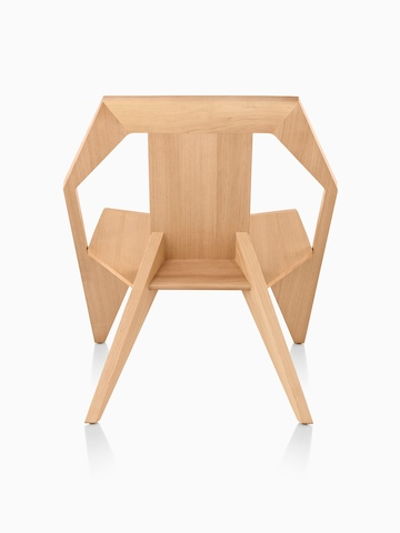 Mattiazzi Medici Chair in natural wood, viewed from the back.