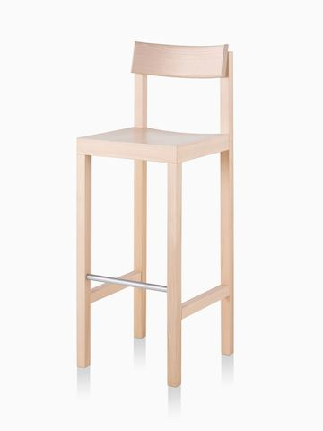 A light colored, bar height Mattiazzi Primo Stool.