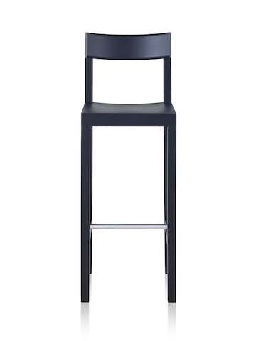 A black, bar height Mattiazzi Primo Stool.