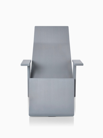 Gray anilin ash Mattiazzi Quindici Lounge Chair, viewed from the front.