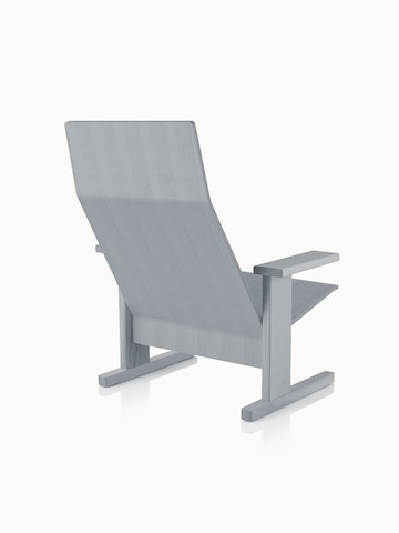 Gray anilin ash Mattiazzi Quindici Lounge Chair, viewed from the back at an angle.