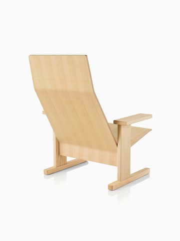 Natural anilin ash Mattiazzi Quindici Lounge Chair, viewed from the back at an angle.