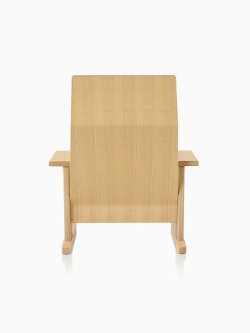 Natural anilin ash Mattiazzi Quindici Lounge Chair, viewed from the back.