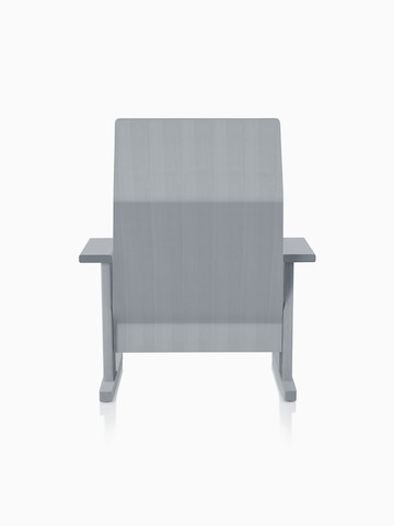 Gray anilin ash Mattiazzi Quindici Lounge Chair, viewed from the back.