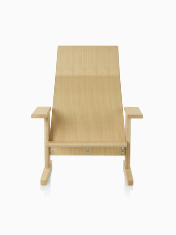 Natural anilin ash Mattiazzi Quindici Lounge Chair, viewed from the front.