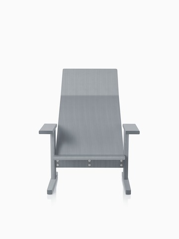 Gris anilin ceniza Mattiazzi Quindici Lounge Chair.