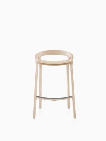 Mattiazzi She Said Stool in a light wood finish.