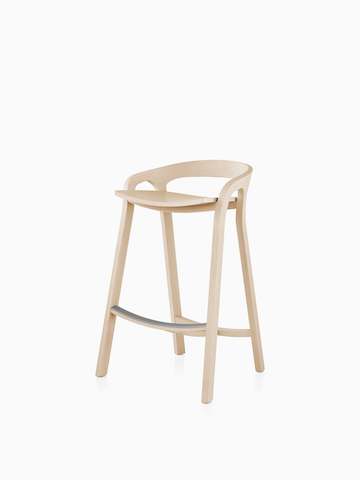Mattiazzi She Said Stool in a light wood finish. Select to go to the Mattiazzi She Said Stool product page.
