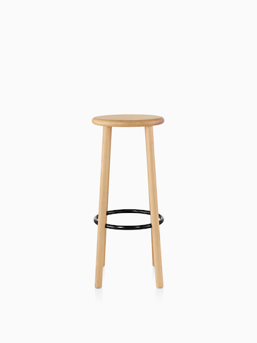 Mattiazzi Solo Stool with a light wood finish.