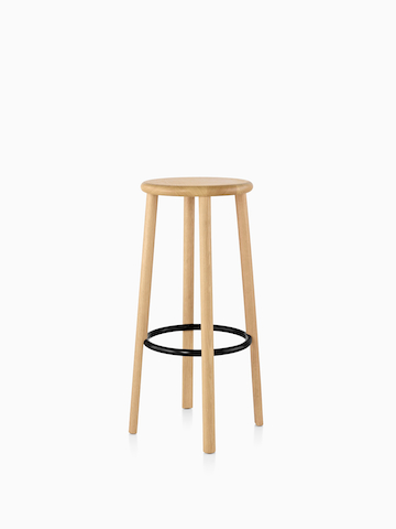 Mattiazzi Solo Stool with a light wood finish. Select to go to the Mattiazzi Solo Stools product page.