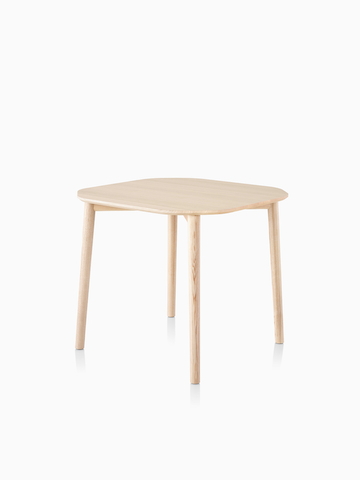 A square Mattiazzi Tronco Table with rounded edges. Select to go to the Mattiazzi Tronco Table product page.