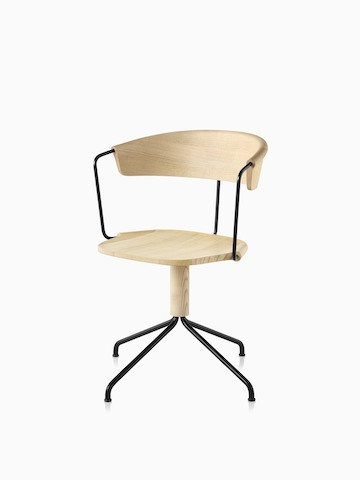 Mattiazzi Uncino Chair, Version A with black frame and natural ash seat and back.  Select to go to the Uncino Chair product page.