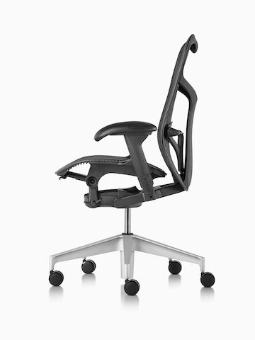 Black Mirra 2 office chair, viewed from the side.